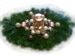 Zlatobronzový vianočný aranžmán