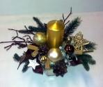Zlatohnedý vianočný aranžmán