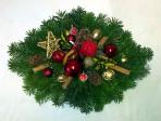 Pestrý vianočný aranžmán