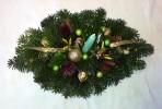 Zlatozelený vianočný aranžmán